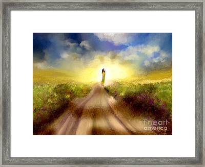The Long Road Framed Print by Sydne Archambault