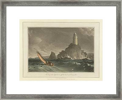 The Long-ships Lighthouse Framed Print by British Library