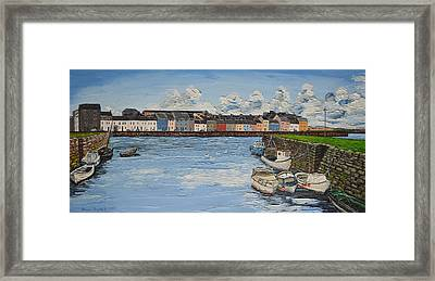 The Long Walk Boats Galway Ireland Framed Print