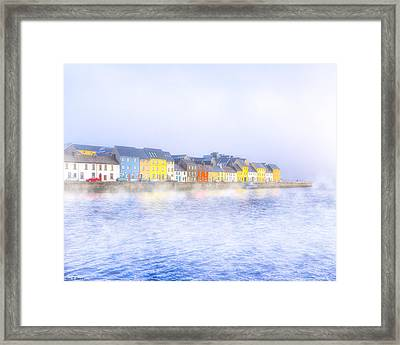 The Long Walk In A Galway Fog Framed Print by Mark Tisdale