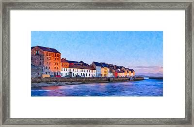 The Long Walk In Galway Ireland Framed Print