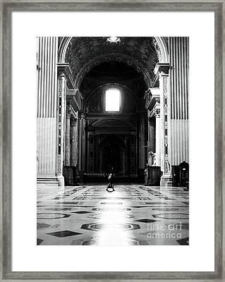 The Long Walk Framed Print by John Rizzuto