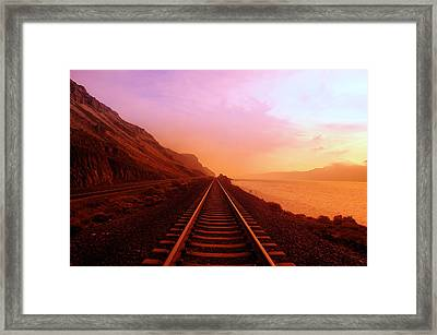 The Long Walk To No Where  Framed Print by Jeff Swan