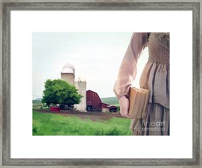 The Long Walk To School Framed Print