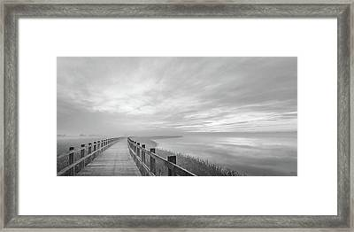 The Long Wooden Footbridge. Framed Print