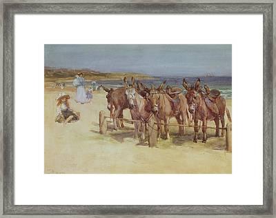 The Longsands, Tynemouth, Northumberland Framed Print by John Atkinson