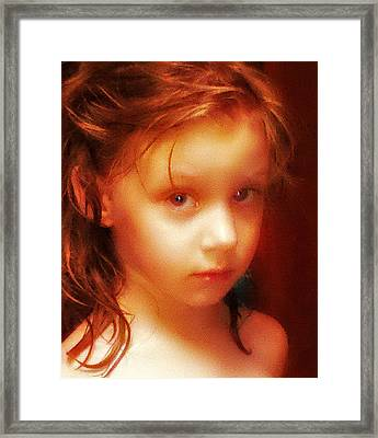 The Look Framed Print by Kelly Reber