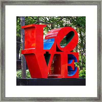 The Look Of Love Framed Print by Rona Black