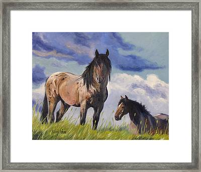 The Look Of Wild Framed Print