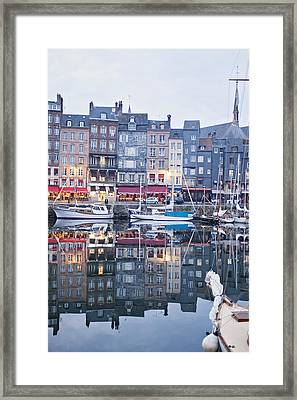The Looking Glass - Honfleur France Framed Print
