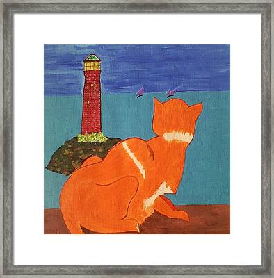 The Lookout Framed Print by Lew Griffin