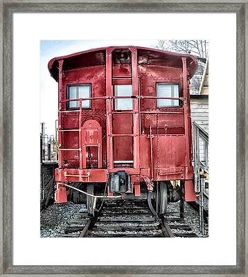The Loose Caboose Framed Print by Bill Cannon