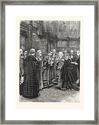 The Lord Chancellor Expressing Her Majestys Approval Framed Print
