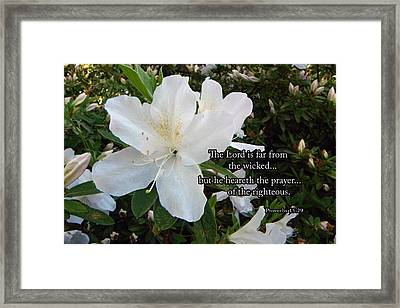 The Lord Hears Framed Print