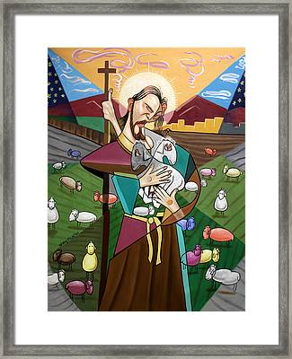The Lord Is My Shepherd Framed Print by Anthony Falbo