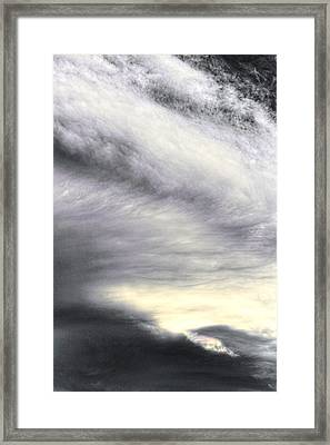 The Lord Stretches Out The Heavens Framed Print by Sandra Pena de Ortiz
