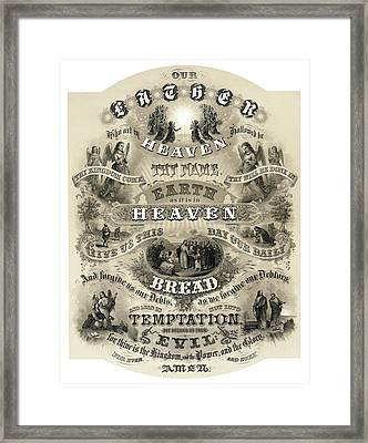 The Lords Prayer - 1876 Framed Print by Daniel Hagerman