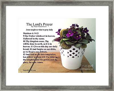 The Lords Prayer Framed Print