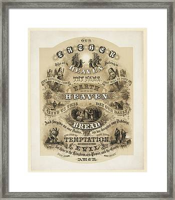 The Lords Prayer Framed Print by Bill Cannon