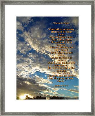 The Lords Prayer Framed Print by Glenn McCarthy Art and Photography