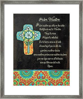 The Lord's Prayer Framed Print by Jo Moulton