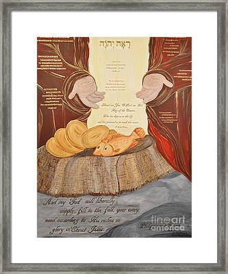 The Lord's Provision Framed Print by Michelle Bentham