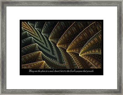 The Lord's Purpose Framed Print