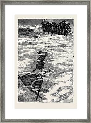 The Loss Of The Jeannette, Lieutenant Danenhowers Boat Framed Print by English School
