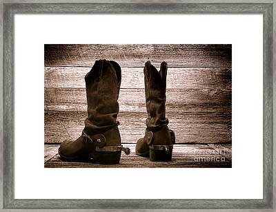 The Lost Boots Framed Print by Olivier Le Queinec
