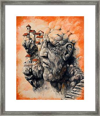 The Lost City - The Sentinel Framed Print by Emerico Imre Toth