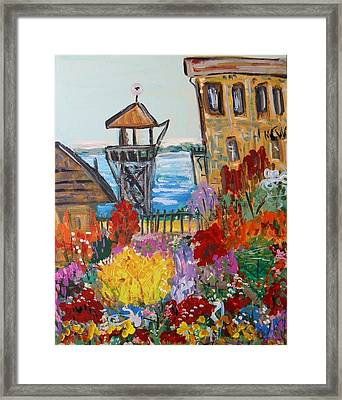 Framed Print featuring the painting The Lost Gardens Of Alcatraz by Mary Carol Williams