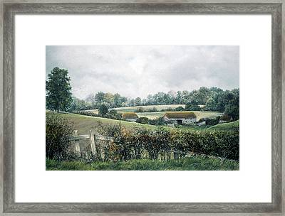 Framed Print featuring the painting The Lost Hedgerow by Rosemary Colyer