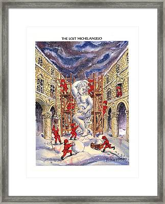 The Lost Michelangelo Framed Print by Tom Hachtman