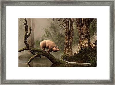 The Lost Pig Framed Print by Daniel Eskridge