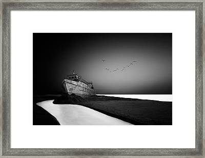 The Lost Ship Framed Print