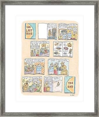 'the Lost Tribe' Framed Print by Roz Chast