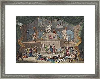 The Lottery, Illustration From Hogarth Framed Print by William Hogarth