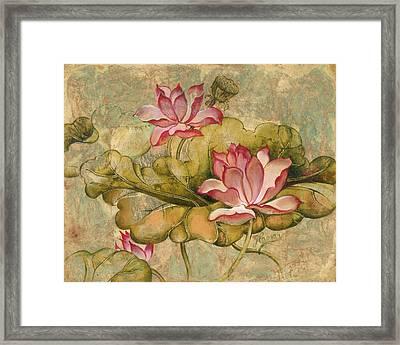 The Lotus Family Framed Print