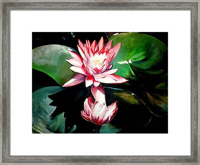 The Lotus Framed Print by John  Duplantis
