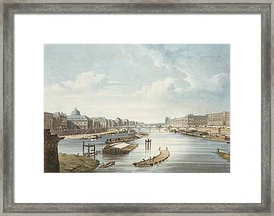 The Louvre, From Views On The Seine Framed Print