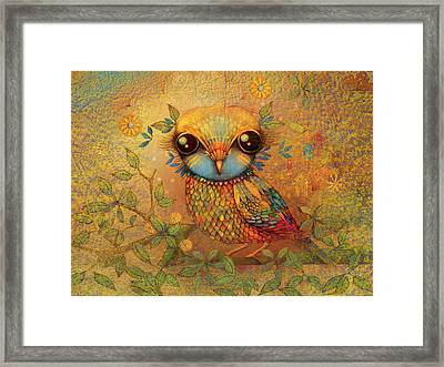 The Love Bird Framed Print by Karin Taylor