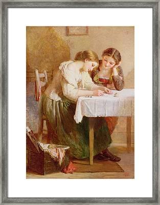 The Love Letter, 1871 Framed Print