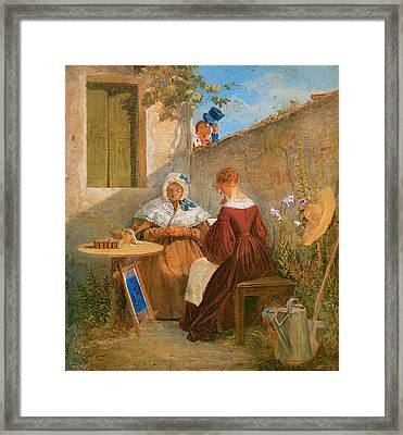 The Love Letter Framed Print by Carl Spitzweg