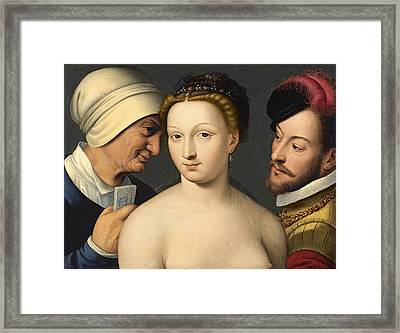 The Love Letter Framed Print by Francois Clouet