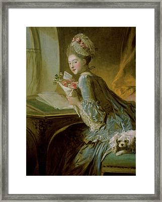 The Love Letter Framed Print by Jean Honore Fragonard