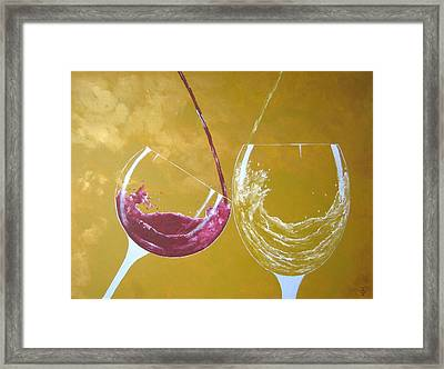The Love Of Wine Framed Print