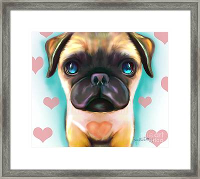 The Love Pug Framed Print