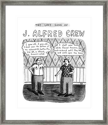 The Love Song Of J. Alfred Crew Framed Print