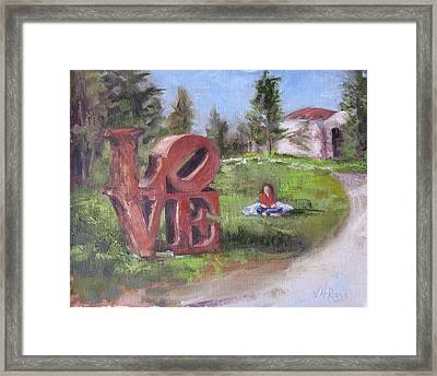 The Love Trail 2 Framed Print