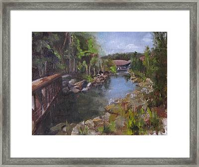 The Love Trail Framed Print
